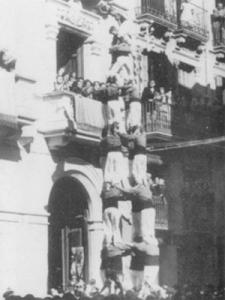 Quatre de vuit de 1947 de la Muixerra per Sant Josep
